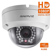 HD 1080P Indoor Dome IP Camera PoE H.265 2MP Night Vision Security Video Surveillance Camera Onvif Outdoor Waterproof