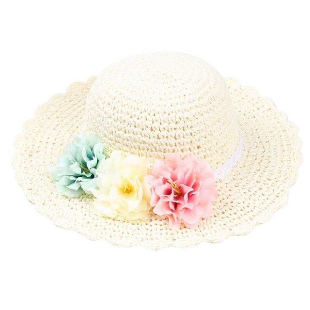 Feliz de Cereza Simple Estilo Bebé Floral Sombrero de Ala Ancha de ...