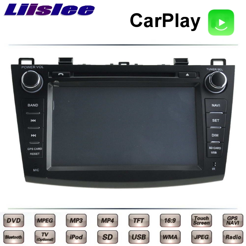 Liislee For Mazda 3 For Mazda3 M3 Axela 2008~2013 Car Multimedia TV DVD GPS Radio Carplay Original Style Navigation Navi liislee for honda for cr v for crv 2007 2011 car multimedia tv dvd gps radio carplay original style navigation navi