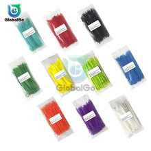 100pcs/Lot 150mm Self locking Nylon Cable Ties 13 color Plastic Zip Tie Loop Wire Binding Wrap Straps 2.5*150mm Wiring Harness