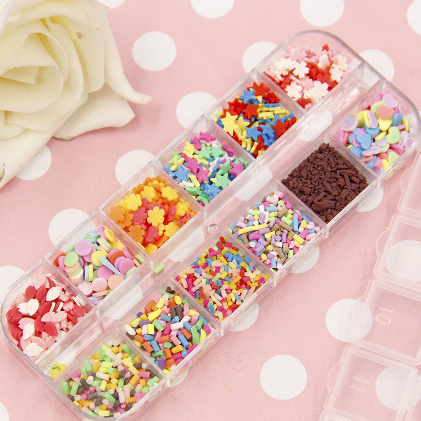 Slime Clay Sprinkles For Filler For Slime DIY Supplies Candy Fake Cake Dessert Mud Decoration Toys Accessories