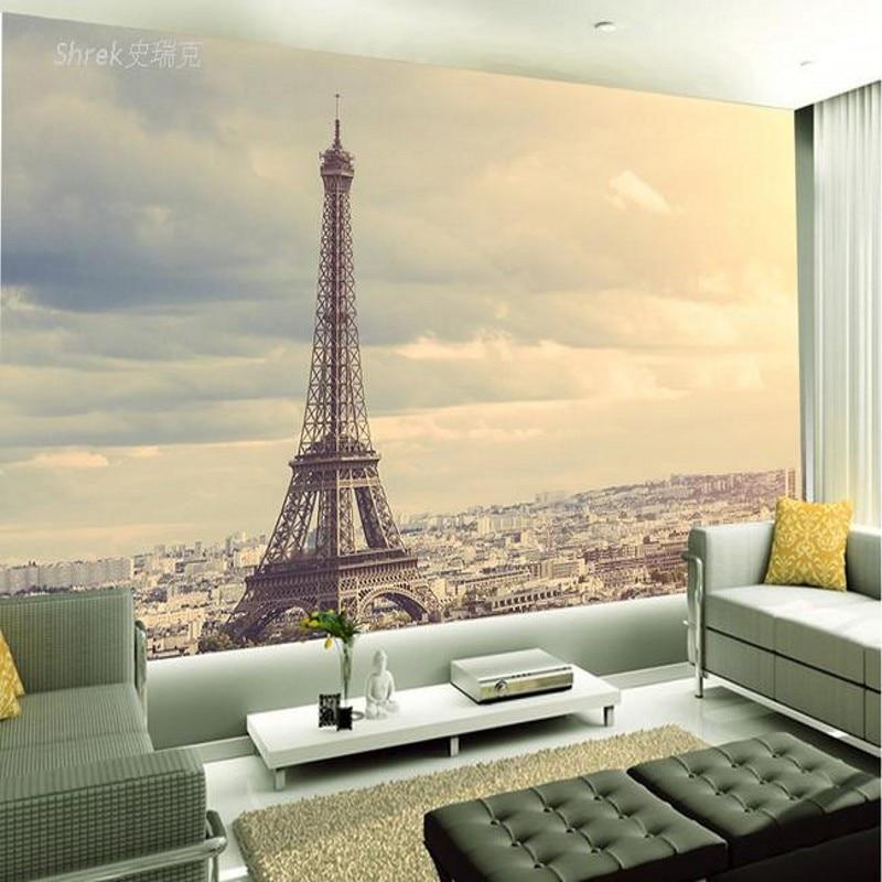 photo wallpaper 3D wallpaper European Eiffel Tower Retro ...  photo wallpaper...
