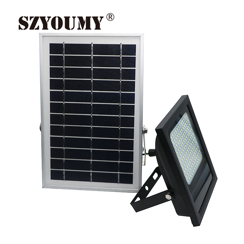 SZYOUMY 1000LM LEDSolar PIR Body Motion Sensor Lamp 15w Emergency Lights Spotlights Solar Security Outdoor Garden LED Floodlight