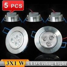 5PCS 3W Ceiling Lamp AC85~265V Warm White/Cool White LED Ceiling Light LED Spot Recessed LED Bulb Lights High Quality