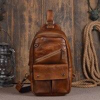 Ретро Личность мужские первый слой растительного дубления кожи в обтяжку небольшой груди сумка ручной работы красная женская сумка