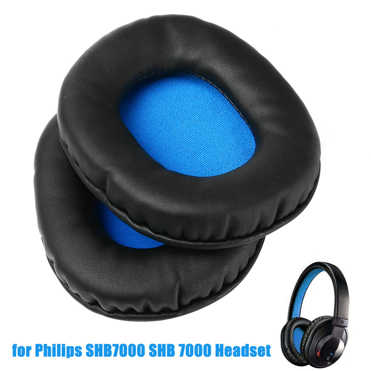 1pc Replacement Earpads Cushions For Philips SHB7000 SHB 7000 Headphones Accessories Mayitr