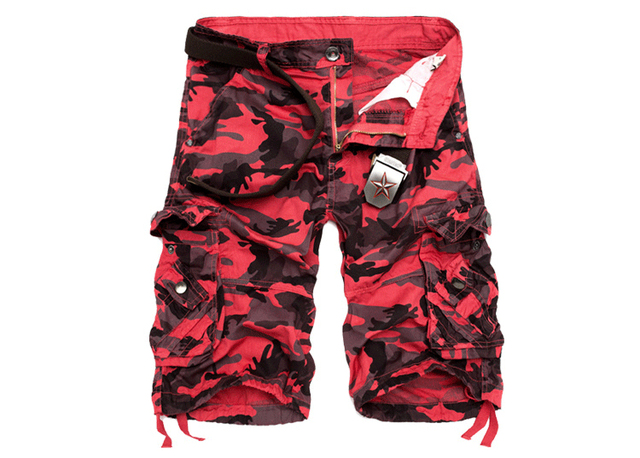 New Camouflage Loose Cargo Shorts Men Cool Summer Military Camo Short Pants 5