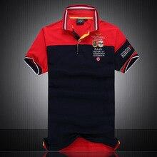 2016 summer men's short-sleeve polo shirt 100% cotton polos shirt Mens Short Sleeve slim fit fashion casual tops M-XXL