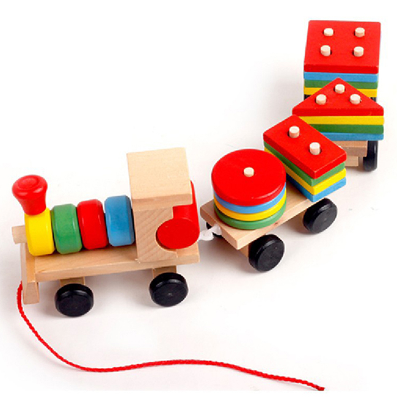 Early Learning Toy Kids Education Group Installed Plastic Disassembly Train Car Kids Toys For Children Toys