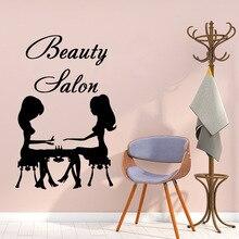 American-Style beauty salon Vinyl Self Adhesive Wallpaper Nursery Kids Room Wall Decor Removable Mural