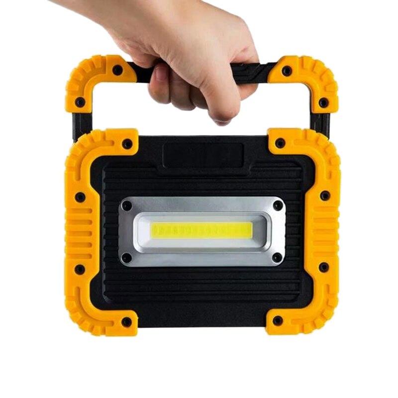 10 W LED USB projecteur COB lampe de travail lanterne 750LM 4400 mAh USB puissance Camping lampe projecteur projecteur