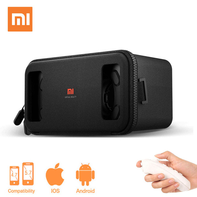 Virtual Reality goggles 3D Glasses Original Xiaomi mi VR box 2.0 Immersive google Cardboard for 4.7- 5.7 inch ios/android phone