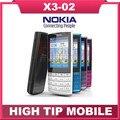 Soporte de teclado ruso marca Nokia X3-02 abrió el teléfono móvil, banda cuádruple, 3 g, wifi, cámara de 5mp, envío gratuito reformado