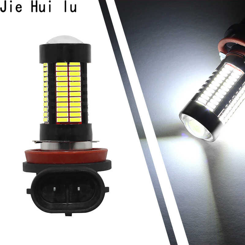 2pcs Car Bulbs Fog lamp H7 car LED H4 H8 H11 9005 9006 HB3 HB4 4014 CHIP 106 SMD 3600LM 6000K White blue red