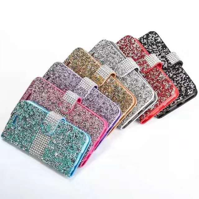 Luxury Fashion Crystal Colorful Shinestone Silk PU Leather <