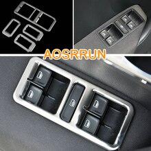 AOSRRUN стеклоподъемник из нержавеющей стали, переключатель крышки, автомобильные аксессуары, автостайлинг для Фольксваген Поло 2011- 6R LHD