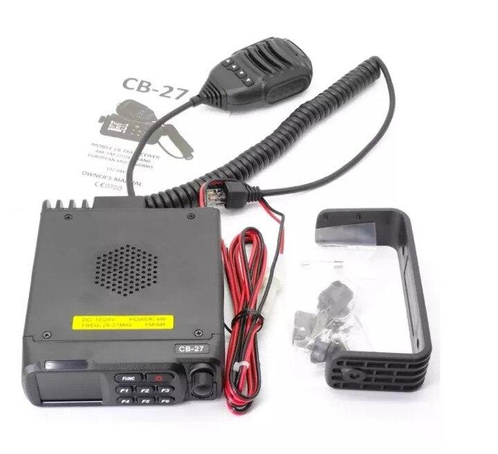 רשימת הקטגוריות QYT הנייד CB27 הרכב שני דרך רדיו משדר AM FM לרכב Mouted להקה אירופאי רדיו CB הנייד CB27 12V 24V 26.965-27.405MHz (1)