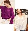Женщины пуловер вырез белый летучая мышь свитер весна осень свитера для беременных одежда для беременных беременность кофты camisola
