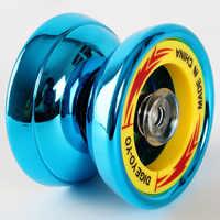 3 Colors Magic Yoyo ball toy Overlord Aluminum Alloy Metal yo-yo Professional KK Bearing String sticker Toys for Children