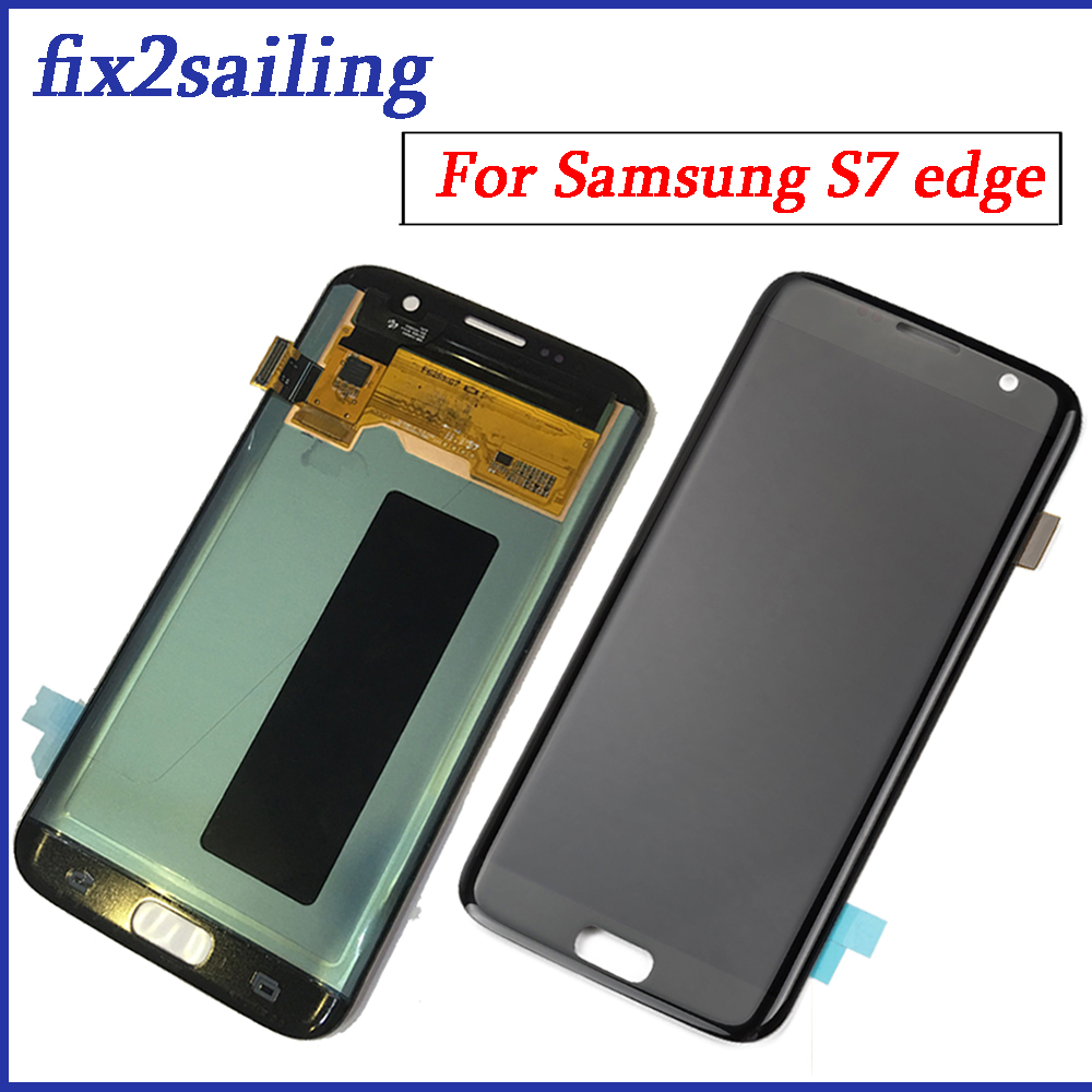 Pour Samsung Galaxy S7 Bord lcd écran d'affichage tactile G935F G935A G935FD G935P assemblée remplacement 100% Testé travail digitizer