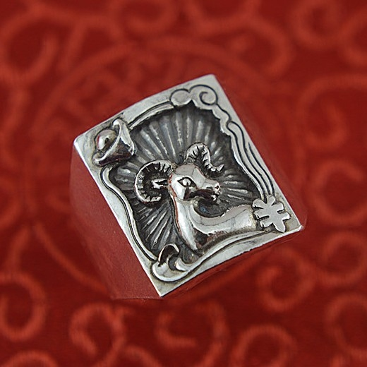 restoring ancient ways zodiac sheep ring male fine silver rings sterling silver ring constellation Aries personality male adolescents personality