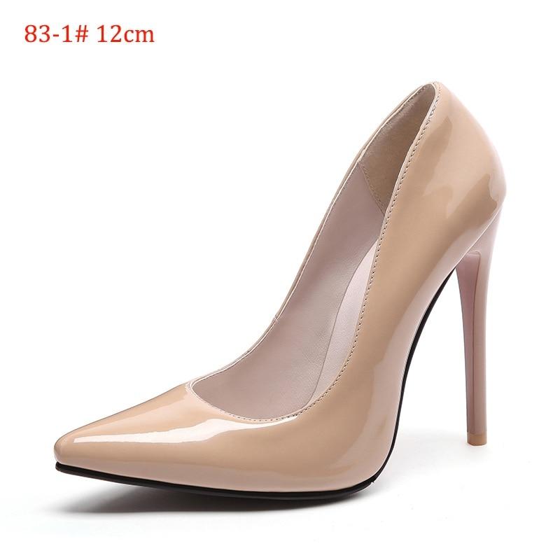 2d6190cb5ade5 US $29.69 45% OFF|LEMAI Marke Schuhe Frau Pumpt Hohe Absätze Roten High  Heels 12 CM Frauen Schuhe Hochzeit Schuhe Pumps Schwarz Nude Schuhe Heels  ...
