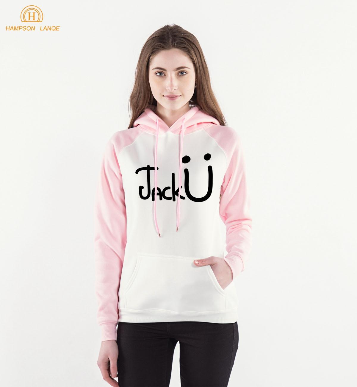 Famous Band Jack U Funny Hoodies Women 2018 Spring Autumn Kawaii Pink Sweatshirt Women Kpop Raglan Hooded Harajuku Hoody S-XXL