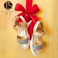 T. s de los niños zapatos de Verano Sandalias de Las Muchachas Zapatos planos Niños Niños mujeres Niños Zapatos de Cuero de LA PU Zapatos de Lentejuelas astilla Size26-37