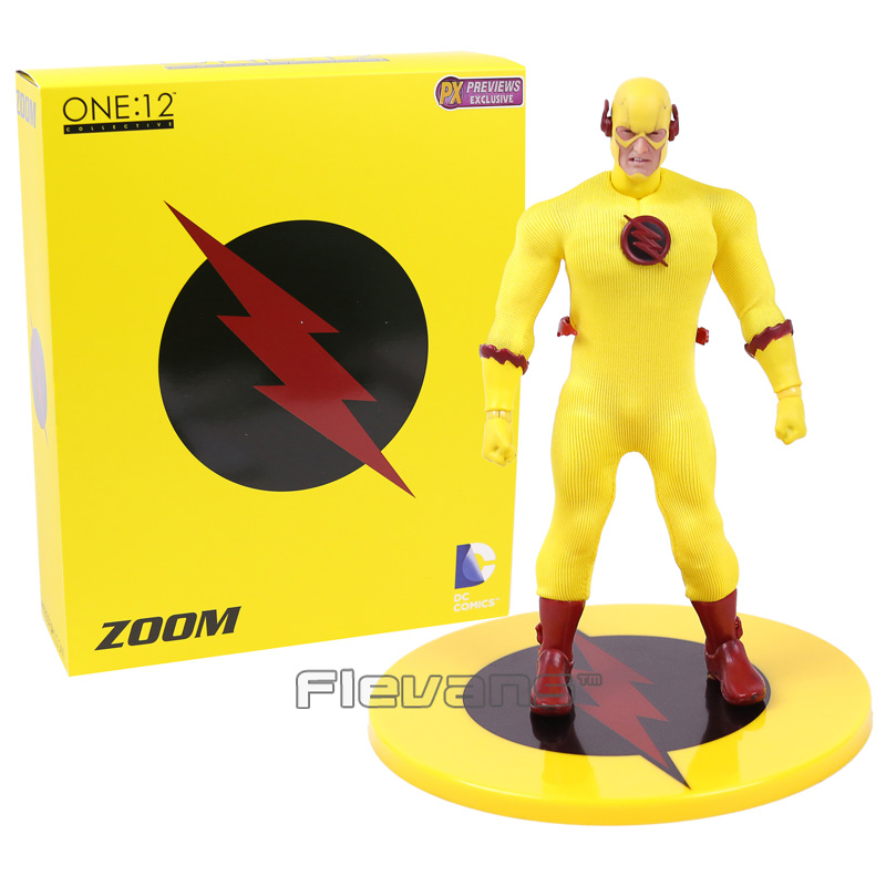 PX Previews Exclusive DC COMICS The Flash ZOOM Reverse Flash 1/12 PVC Action Figure Collectible Model Toy 15cm the flash man aciton figure toys flash man action figures collectible pvc model toy gift for children