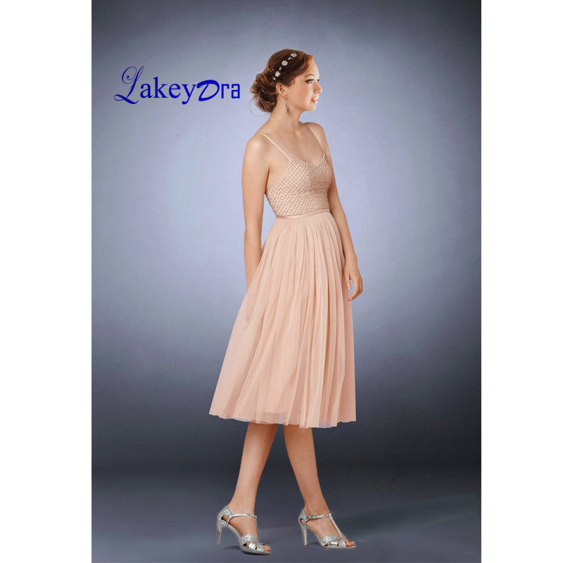 Lakeydra Strapless   Cocktail     Dresses   Tulle with Beads Plus Size Zipper Back Sexy Short Prom Gowns Robe De Soiree