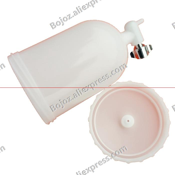 Free shipping 400ml Spray gun cup ,Gravity feed spray gun parts , paint cup for K-3 F-2 W-71 W-101 spray gun plastic bottle