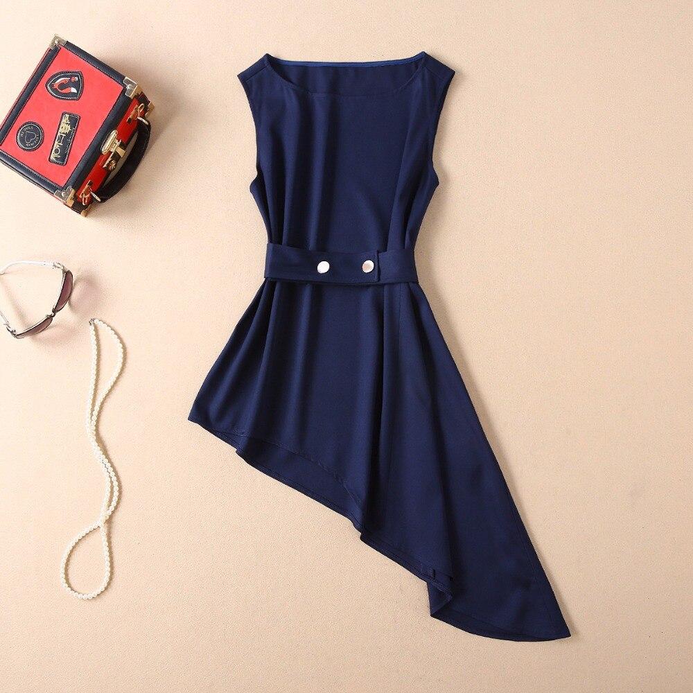 Asymétriques Femmes Un Vêtements Pièces Inspiré Deux Ensembles Féminins ligne Par Bleu Jupe Costume Hauts 2019 Des Célébrités Blouse Printemps Été Et 1gPqzgw