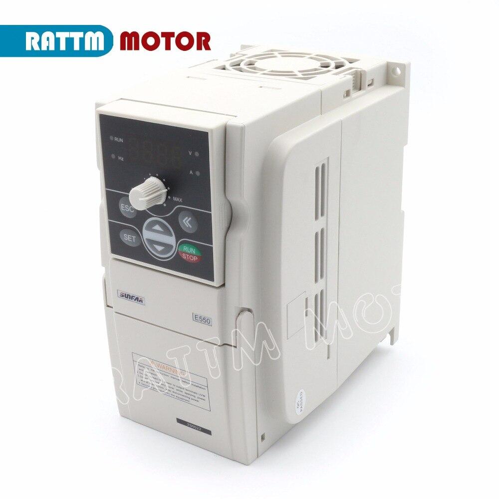 Sunfar Инвертор VFD 2.2KW 220 В E550-2S0022 преобразователь частоты 1000 Гц частотно-регулируемый привод