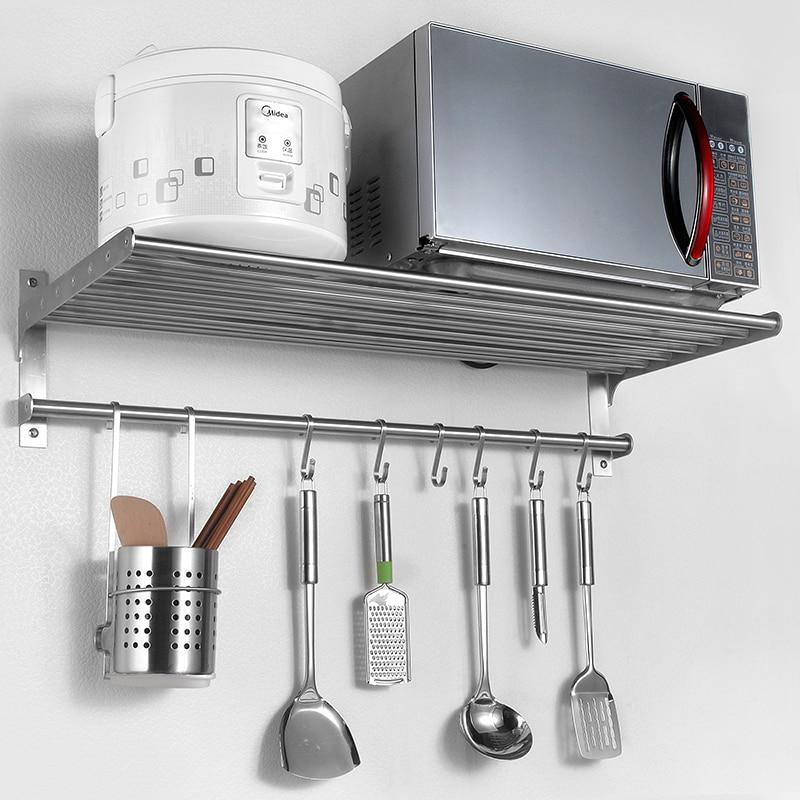 304 нержавеющая сталь кухня стойки настенные приправа подставка в микроволновую печь бытовая техника стеллаж для хранения LU5038