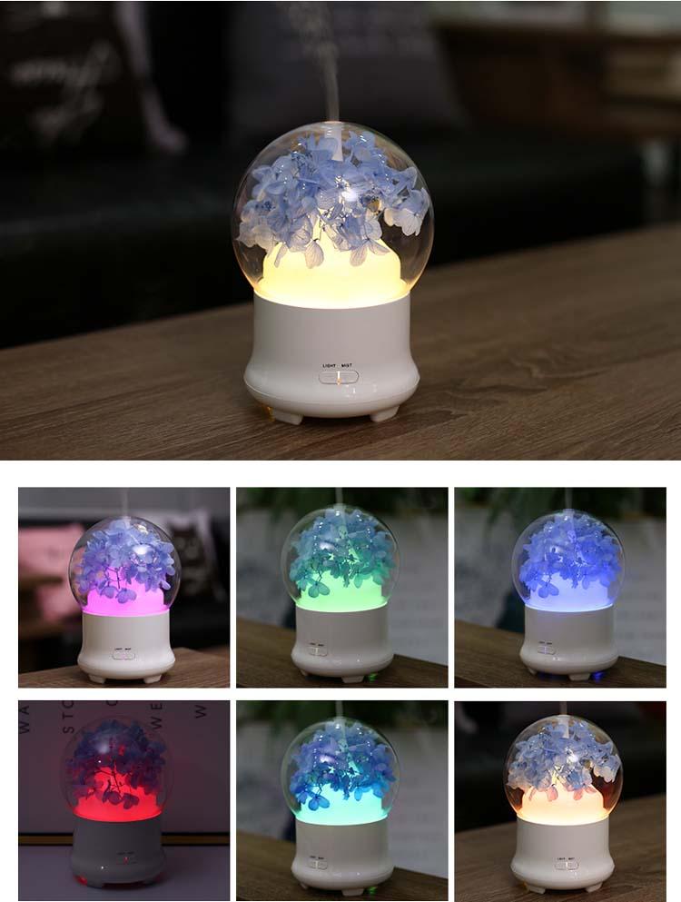 USB LED ночник затемнения огонь, дерево Серебряный цветок DIY лампы Стекло накрыть стол с подсветкой дерево Ночной привело ночь лампа