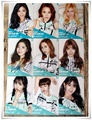 TWICE  autographed  PAGE TWO  signed original photo 9 photos set  Blue version4*6 inches  collection freeshipping 06.2016