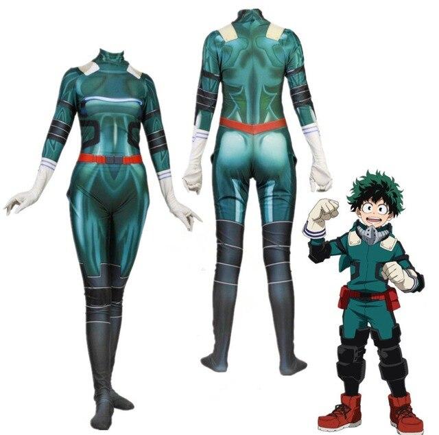 Anime Boku No Hero Academia Deku Izuku Midoriya Costume My Hero