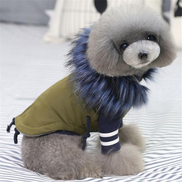 Winter Faux Fur Dog Coat