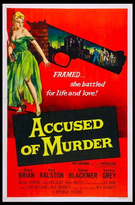 Accused of Murder Classic Movie Film Noir Retro Vintage Poster Canvas Painting DIY Wall Paper Home Decor Gift image