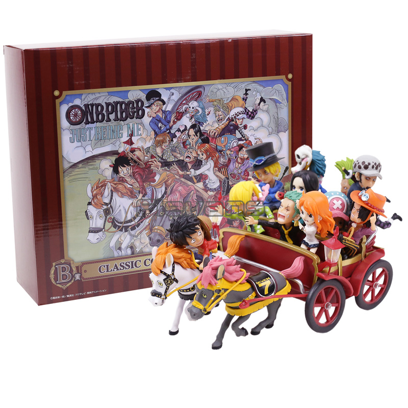 Anime One Piece 20th Anniversary Luffy Ace Nami Law Hancock Carriage PVC Figure Toys 2 Colors повязка на голову для младенца baby s joy цвет бежевый k 22