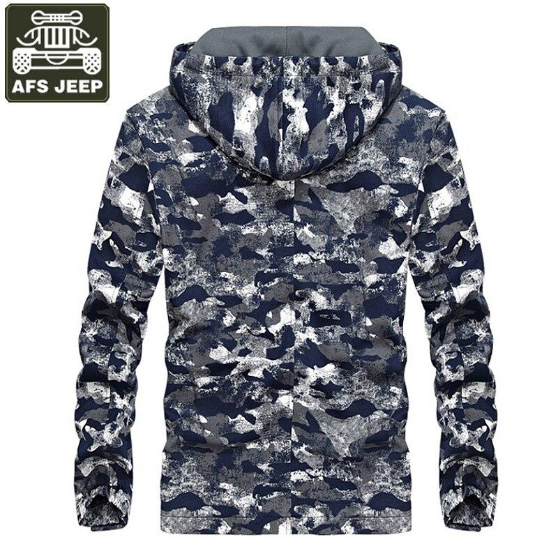 AFS JEEP marque 2017 veste hommes Camouflage militaire à capuche hommes Bomber vestes imprimer Jaqueta Masculina Chaqueta Hombre M-4XL - 3