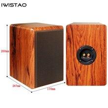 IWISTAO 4 Inch Full Range Speaker Empty Cabinet Passive Speaker Enclosure Wood 15mm High Density MDF Board Volume 7.2L DIY