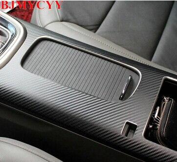 BJMYCYY freies verschiffen Auto mittelarmlehne box carbonfaseraufkleber für Chevrolet Malibu 2013 2014