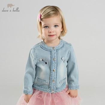 c16ae633b DB9953 dave bella primavera bebé niña chaqueta niños moda niños prendas de  vestir exteriores niños luz azul