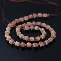 AAA Grade 15.5Strands Champagne Titanium Druzy Quartz Geode Freeform Column/Cylinder Beads,Crystal Drusy Pendant Jewelry Making