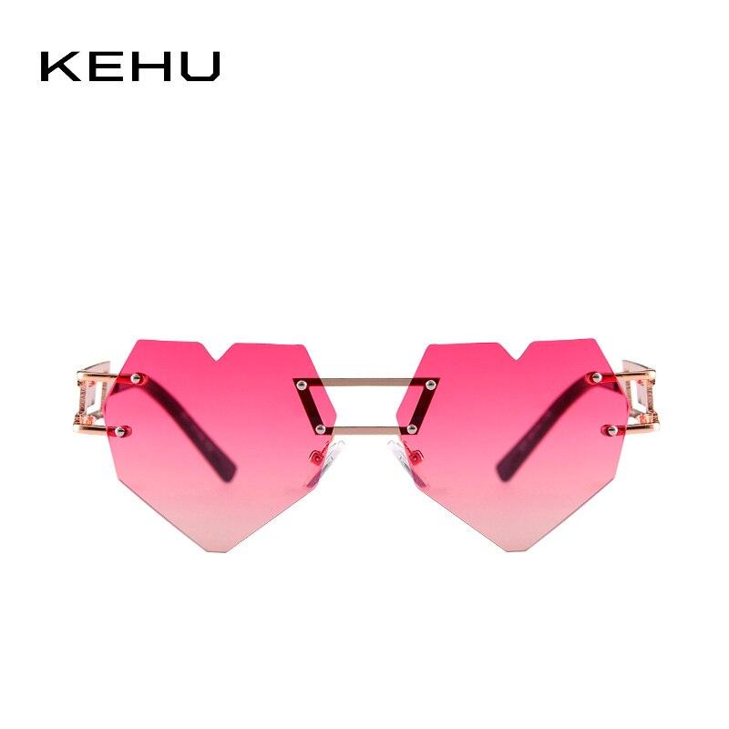 7d541c883d KEHU Brand Design New Fashion Rimless Heart shaped Sunglasses Women Rainbow  Gradient Rimless Heart shaped Women Glasses K9277-in Sunglasses from  Apparel ...