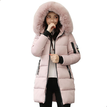 Free Shipping Winter Jacket Women Hooded With Fur Collar Long Coat Cotton Padded Female Parka Outwear Chaqueta Mujer