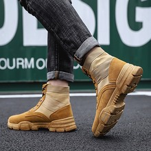 Купить с кэшбэком High Top Winter Snow Boots for Men Boots Warm Fur&Plush Boots Men Lace Up New Fashion Men Shoes Sneakers Big Size 38 39 45 46 47