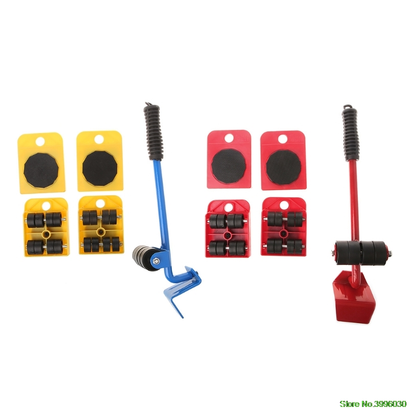 Smart 5pcs Furniture Transport Roller Set Removal Lifting Moving Tool Heavy Move House Hand Tool Sets Tools