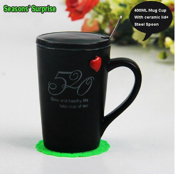 Porcelana taza creativa de amarte pareja tazas de caf 520 for Tazas de te con tapa